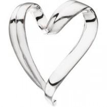 Heart Chain Slide in Sterling Silver