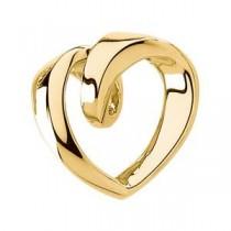 Omega Heart Chain Slide in 14k White Gold