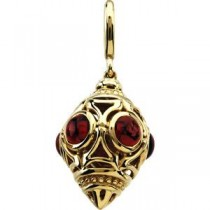 Rhodolite Garnet Charm in 14k Yellow Gold