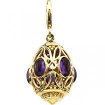 Amethyst Charm in 14k Yellow Gold