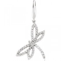 Diamond Dragonfly Charm in 14k White Gold (0.33 Ct. tw.) (0.33 Ct. tw.)