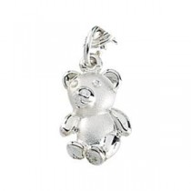 Teddy Bear Charm in Sterling Silver