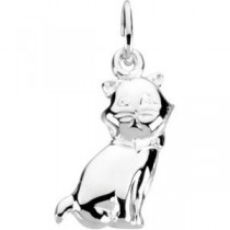 Cat Charm in Sterling Silver