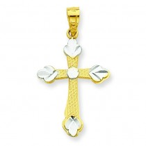 Budded Cross Pendant in 10k Yellow Gold