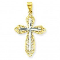 Diamond-Cut Cross Pendant in 10k Yellow Gold