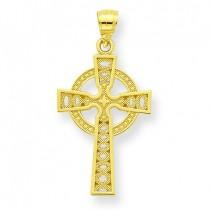 Iona Cross Pendant in 10k Yellow Gold