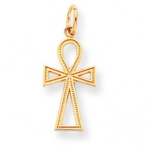 Cross Charm in 10k Yellow Gold