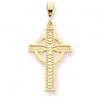 Cross Charm in 10k Yellow Gold
