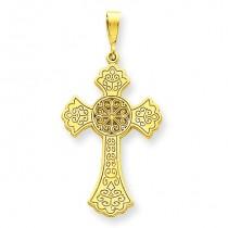Celtic Cross Pendant in 14k Yellow Gold