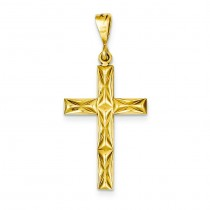 Reversible Latin Cross in 14k Yellow Gold