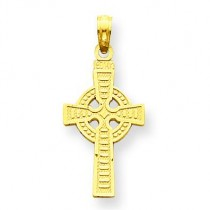 Reversible God Is Love Celtic Cross in 14k Yellow Gold