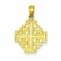 Jerusalem Cross in 14k Yellow Gold