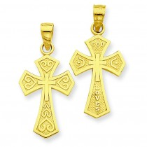 Reversible Passion Cross in 14k Yellow Gold
