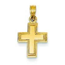 Greek Cross Pendant in 14k Yellow Gold