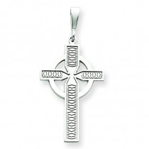 Celtic Cross Charm in 14k White Gold