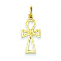 Ankh Cross Charm in 14k Yellow Gold