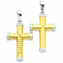 Reversible Cross in 14k Yellow Gold