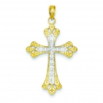 Fleur De Lis Cross in 14k Yellow Gold