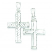 Reversible Cross Pendant in Sterling Silver