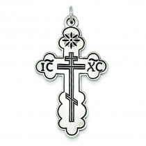 Eastern Orthodox Cross in Sterling Silver