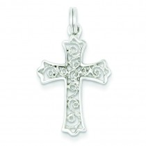 Fleur De Lis Cross in Sterling Silver