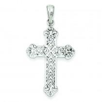 Fleur De Lis Cross in Sterling Silver
