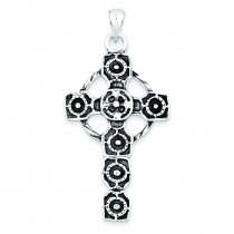 Antiqued Celtic Cross in Sterling Silver