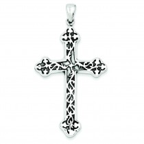 Antiqued Thorn Cross in Sterling Silver