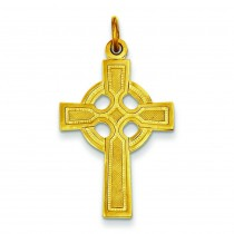 Gold Plated Celtic Cross in Sterling Silver