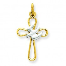 Holy Spirit Cross in Sterling Silver
