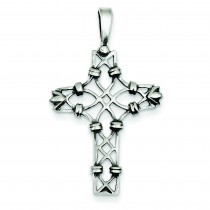 Antiqued Cross Pendant in Sterling Silver