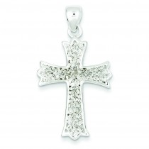 Polished Filigree Cross Pendant in Sterling Silver