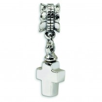 Cross Ash Dangle Bead in Sterling Silver