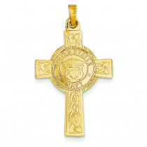 Navy Insignia Cross in 14k Yellow Gold