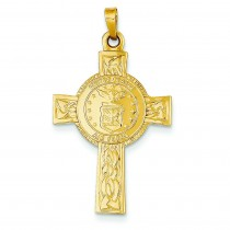 Air Force Insignia Cross in 14k Yellow Gold
