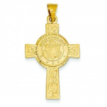 Army Insignia Cross in 14k Yellow Gold
