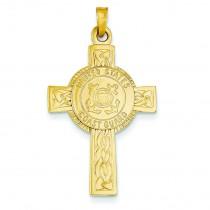 Coast Guard Insignia Cross in 14k Yellow Gold