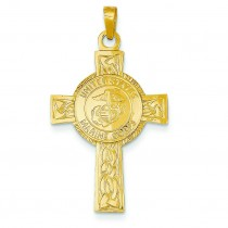 Marine Corps Insignia Cross in 14k Yellow Gold