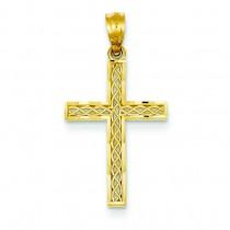 Filigree Fashion Cross in 14k Yellow Gold