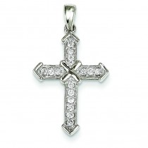 0.19 Ct. Tw. Diamond Passion Cross in 14k White Gold