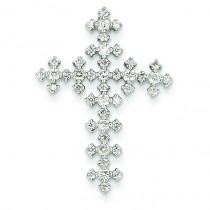 0.64 Ct. Tw. Diamond Celtic Cross in 14k White Gold