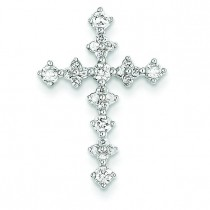 0.46 Ct. Tw. Diamond Passion Cross in 14k White Gold