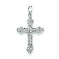 0.1 Ct. Tw. Diamond Filigree Cross in 14k White Gold