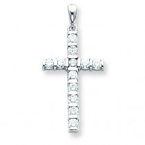0.708 Ct. Tw. Diamond Latin Cross in 14k White Gold