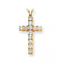 0.132 Ct. Tw. Diamond Latin Cross in 14k Yellow Gold