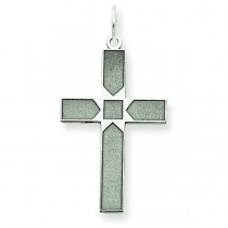 Latin Cross Pendant in 14k White Gold