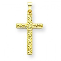 Floral Cross in 14k Yellow Gold
