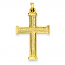 Hollow Latin Cross in 14k Yellow Gold