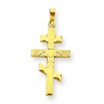 Eastern Orthodox Cross in 14k Yellow Gold