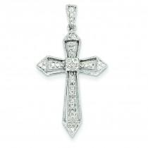 0.3 Ct. Tw. Diamond Passion Cross in 14k White Gold